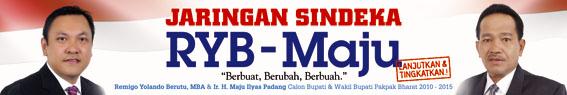 RYB-Maju Remigo Yoando Berutu, MBA - Ir. H. Maju Ilyas Padang