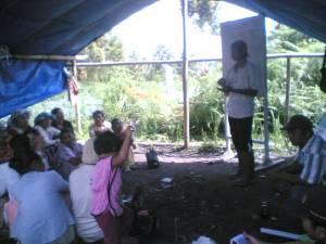Pelatihan Pertanian Desa Rumerah Kec. STTU JULU Pakpak Bharat. Dengan melakukan upaya pelatihan dan pembinaan langsung kepada petani diharapkan dapat semakin meningkatkan SDM masyarakat setempat. Seperti yang terlihat dalam gambar salah satu pelatihan kegiatan PNPM di Desa Rumerah yang diperuntukkan bagi warga petani. @