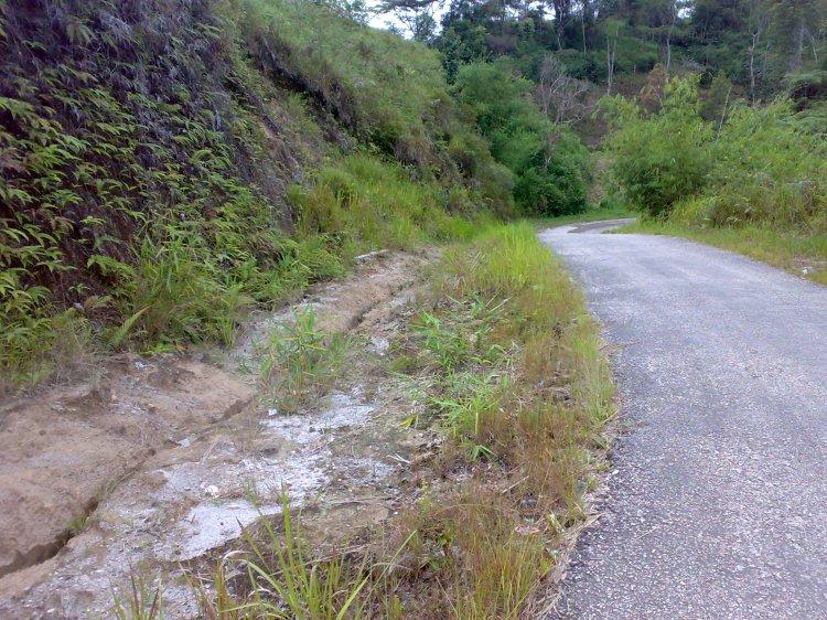 Parit Semen pada Jalan Kuta Jungak Kecamatan Siempat Rube Kabupaten Pakpak Bharat yang dibangun terlalu jauh dari badan jalan sehingga kini terlihat parit alam yang terbentuk antara parit semen dan badan jalan karena aliran air hujan. @