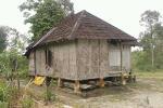 Salah satu rumah warga miskin Dusun Pangkalen Kec. Siempat Rube Pakpak Bharat